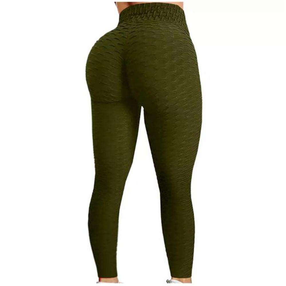 Sportske Ženske Push-Up Helanke - Army Green