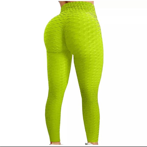 Sportske Ženske Push-Up Helanke - Chartreuse