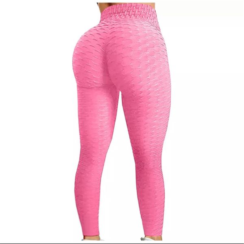 Sportske Ženske Push-Up Helanke - Hot Pink