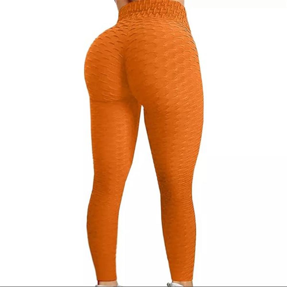 Sportske Ženske Push-Up Helanke - Orange