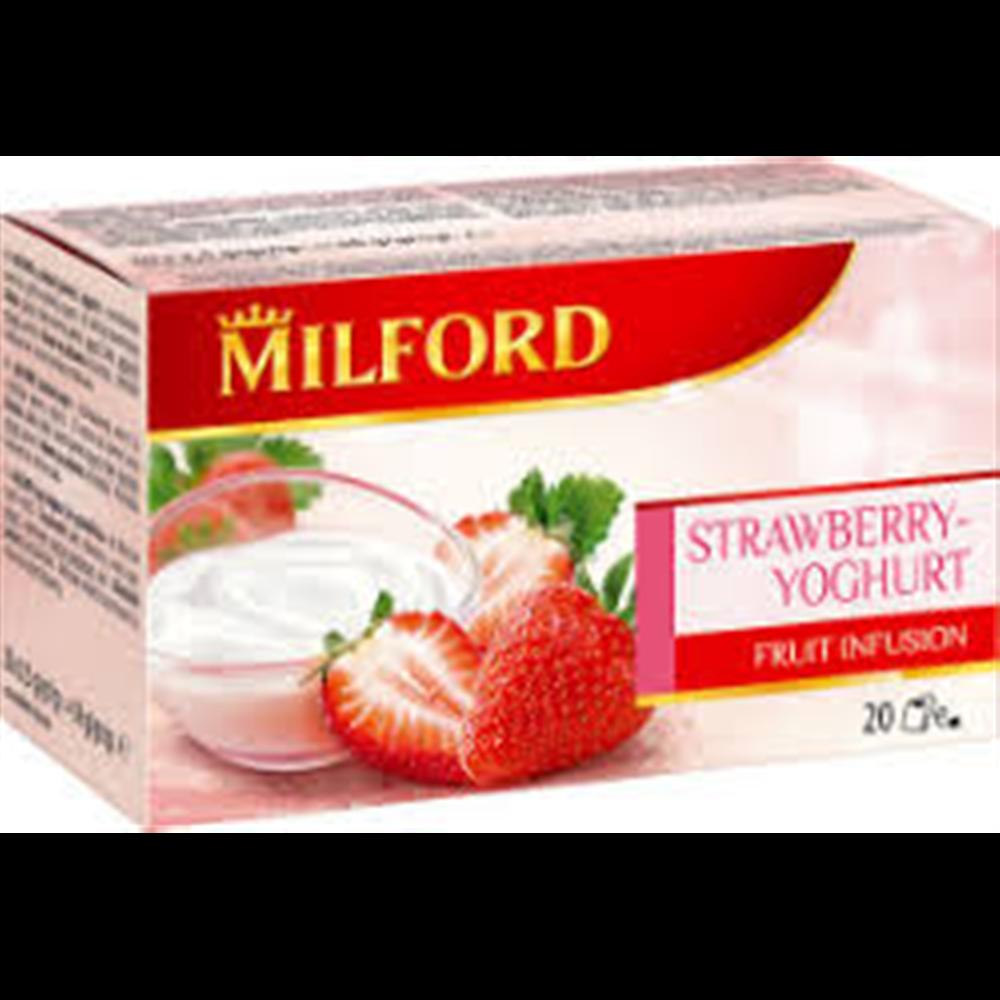 Milford čaj, jagode i jogurt
