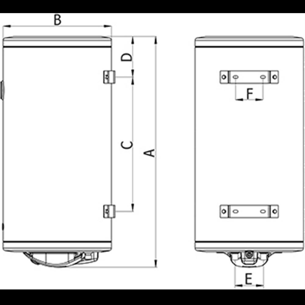 TERMORAD Bojler BT80 80 L prohromski kaz