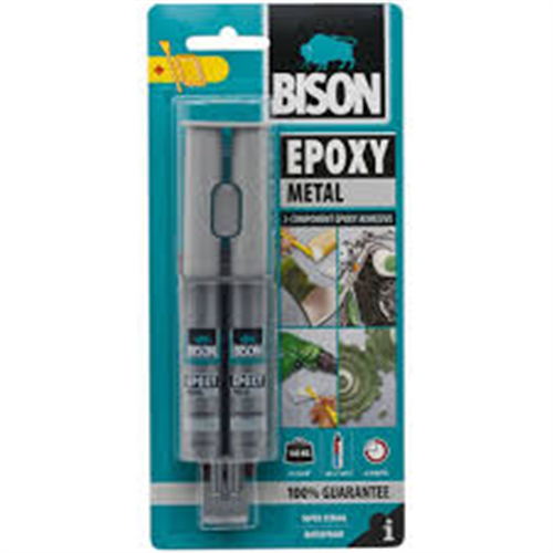 Bison Epoxy metal Dvokomponentni lepak za metal   24ml